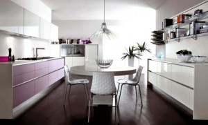 rounded light purple and pink Cucine Kitchen by Cucine Lube