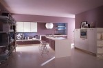 rounded light purple and pinks Cucine Kitchen by Cucine Lube