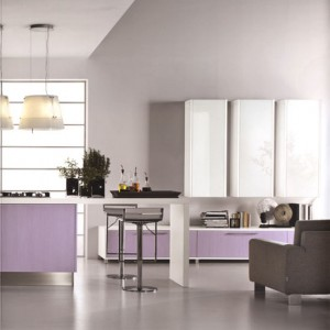 rounded light purple and pinks Cucine Kitchens by Cucine Lube