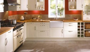 shaker cream kitchen plus modern living