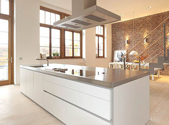 simplicity white kitchen design idea is Bulthaup B1 kitchen