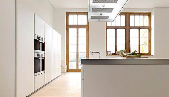 simplicity white kitchen design idea is Bulthaup B1 kitchens