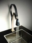 single handle kitchen faucet is hybrid flexible has LED-illuminating by paini