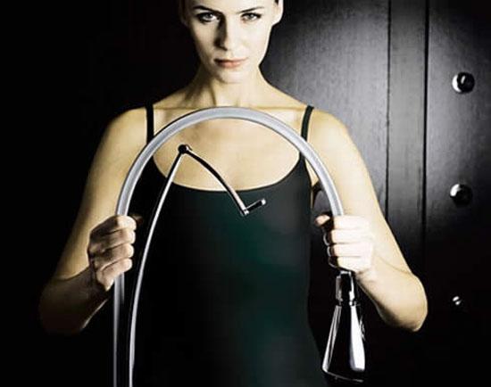 single handle kitchens faucet is hybrid flexible has LED-illuminating by paini