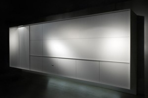 singular monoblock piece Fully Enclosed Kitchen simple lines minimalist product from Boffi