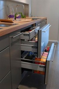 small fridge size for small apartment in stainless steel polished