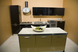 small kitchen design planning by selecting light green colour scheme