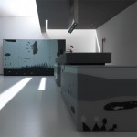 small kitchens apartment with gray color scheme or bright colors patterns