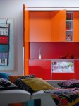 smalls kitchen in little apartment gives living space for yourng girsl