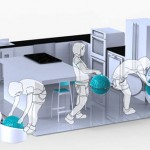 smart commercial laundry machine by Orbital force