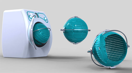smart commercial laundry machines by Orbital forces