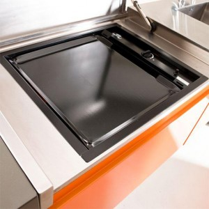 stainless steel and aluminum modular kitchens is easy to clean and recyclable