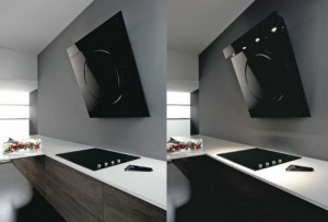 stainless steel cooker hood or cooker hood OM in modern kitchen decor