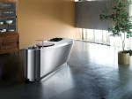 streamlined sides kitchen with stainless steel worktops and hand-finished sinks