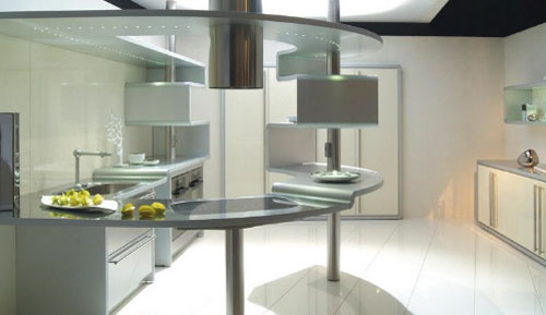 the Circular Kitchen with sandwiched aluminum Snaidero's Acropolis is really fantastic