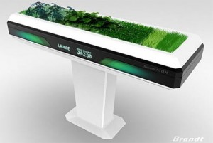 the future kitchen appliances for small places with green plants by Antoine Lebrun