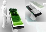 the future kitchen appliances for small places with greens plants by Antoine Lebrun