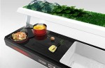 the future kitchens appliances for small places with green plants by Antoine Lebrun
