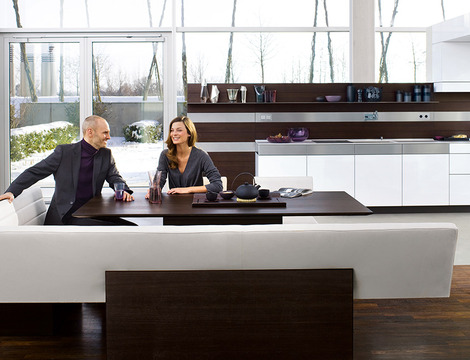 the kitchen communicates with its environment bringing the room
