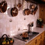 the technique of hanging cookware is a signature French kitchen attribute