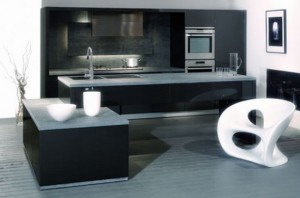 thicker countertops and unique range hood Italian Kitchen Design