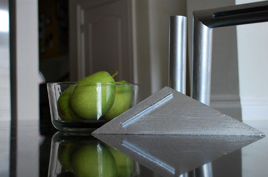 touch sink faucet controls brushed steel tube designed by Jessica Hunt