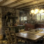 traditional kitchen in rural America optimize air circulation and natural lighting