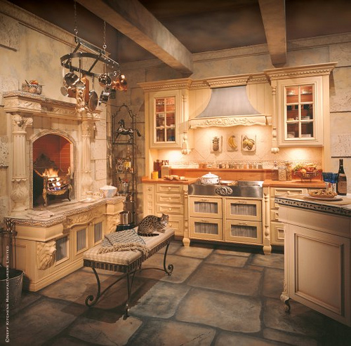 Traditional kitchen in rural america optimize air for Country kitchen flooring