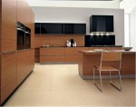 two level countertop kitchen island from stainless steel by Ged Cucine