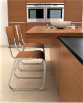 two level countertop kitchens island from stainless steel by Ged Cucine
