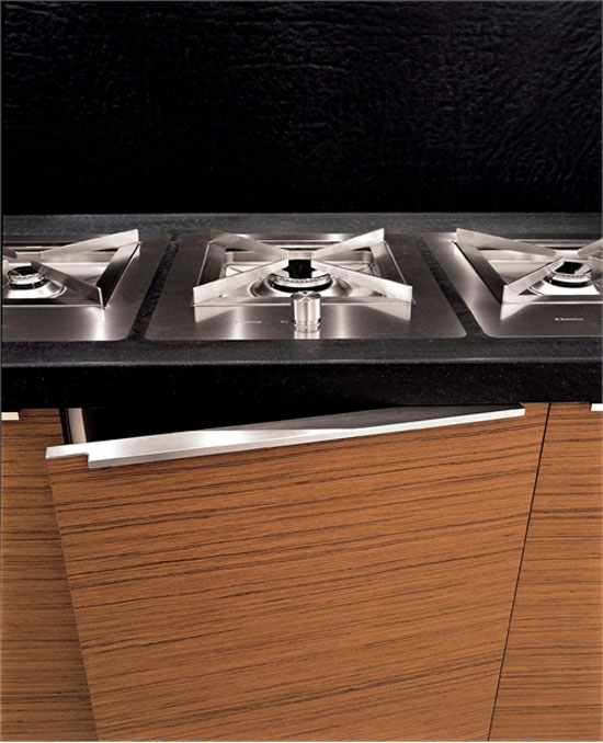 two levels countertop kitchen island from stainles steel by Ged Cucine
