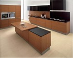 two levels countertop kitchen island from stainless steel by Ged Cucine