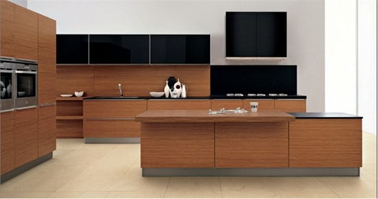 two levels countertop kitchens island from stainless steel by Ged Cucine