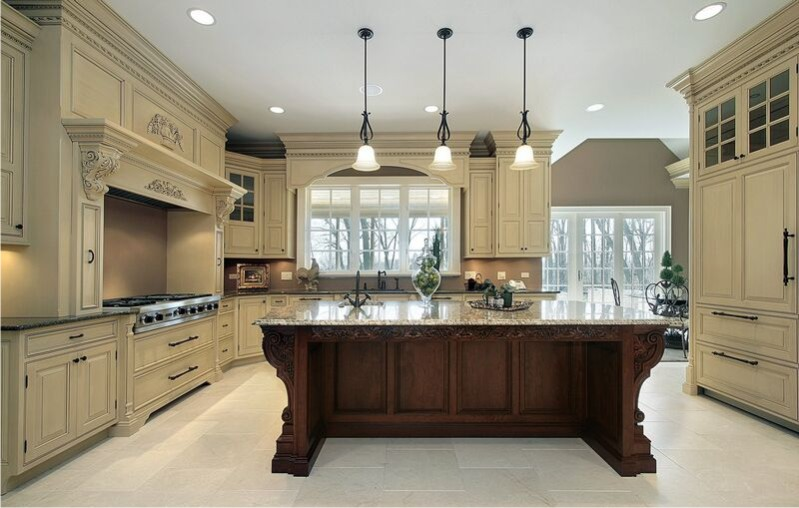 Kitchen cabinet refacing ideas two tone color kitchen for Different kitchen designs