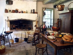 typical turn of the century French country kitchen