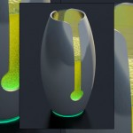 unique Beer glass with llight and feel the energy by Carlos Zanotti Cavazzoni