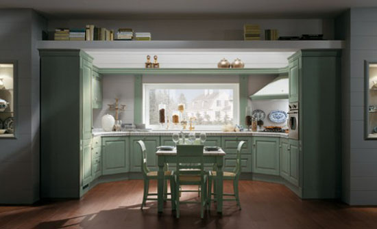 warm and cozy Classic Kitchens Absolute by Scavolini