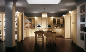 warm and cozy Classic Kitchens Absolutes by Scavolini