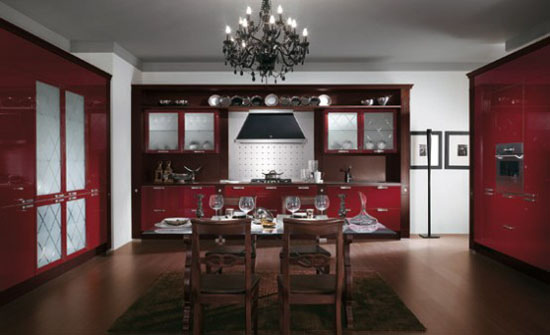 warm and cozy Classics Kitchen Absolute by Scavolini