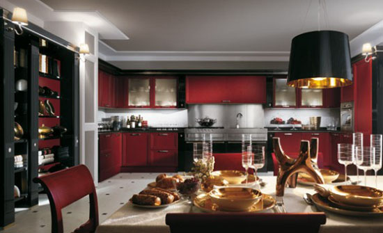 warm and cozy Classics Kitchens Absolute by Scavolins