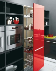 white Black and Red kitchen modern look bright fresh very stylish