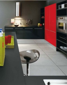 white Black and Red kitchens modern look bright fresh very stylish