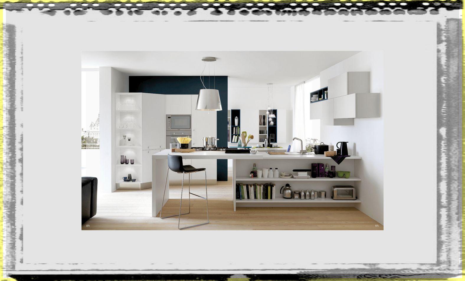 white and wood kitchen open kitchen design