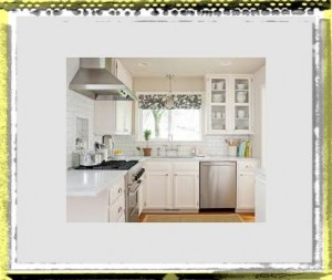 white feminine small kitchen ideas