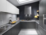 white grey and black modern Kitchen design picture by Ernestomeda