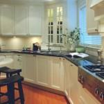 white kitchen cabinet