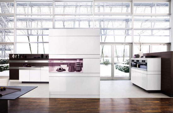 white kitchen cabinet and wooden walls has modern minimalist kitchens style