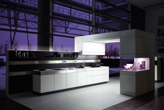 white kitchens cabinet and wooden walls has modern minimalist kitchen style