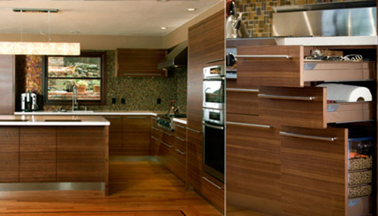 wood countertops granite gives rustic atmosphere for modern and traditional houses