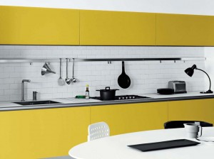 yellow and white kitchen pictures